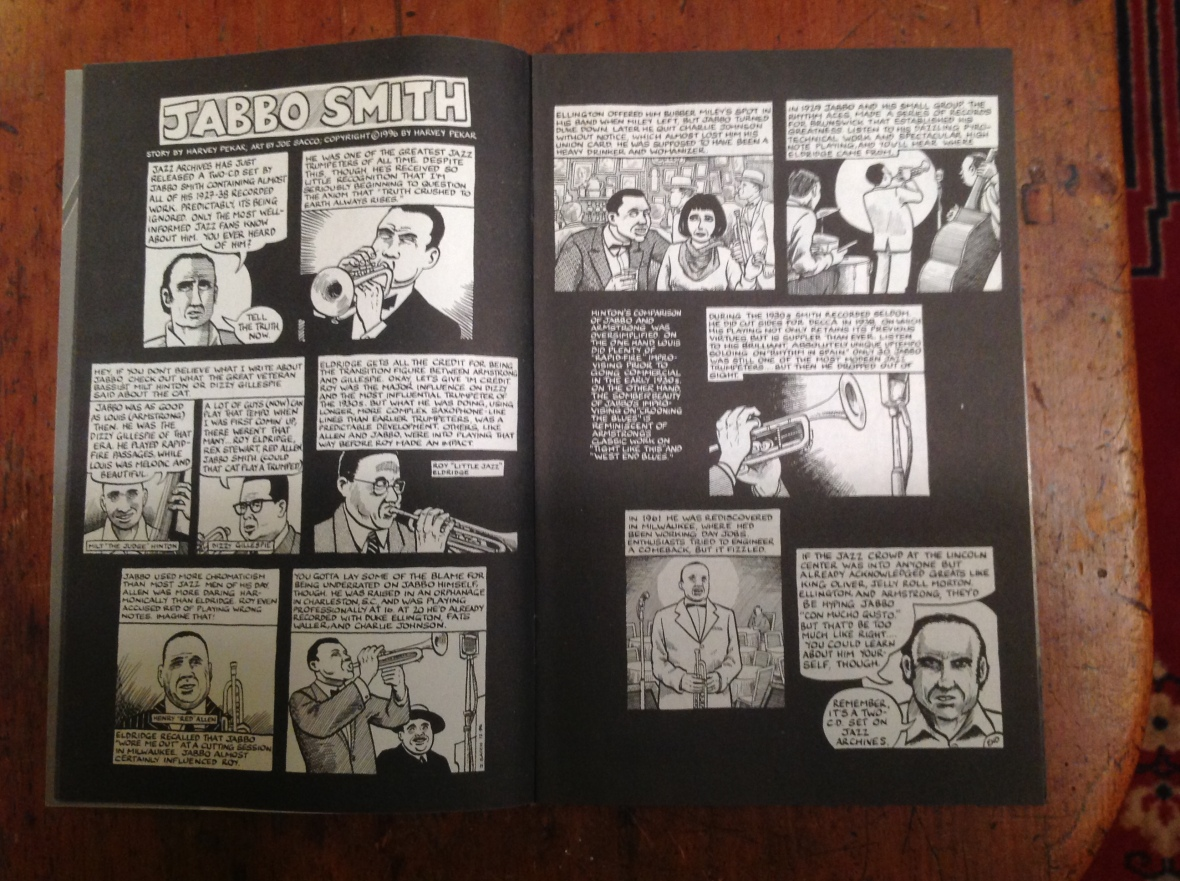 Jabbo Smith comic book story by Harvey Pekar, illustrated by Joe Sacco